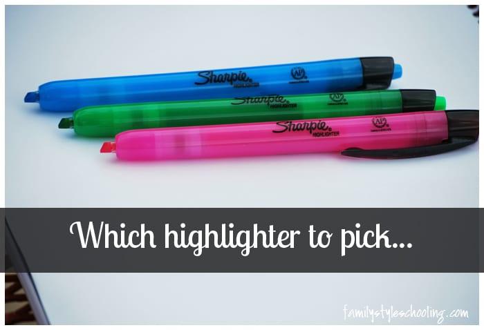 Choosing Highlighters