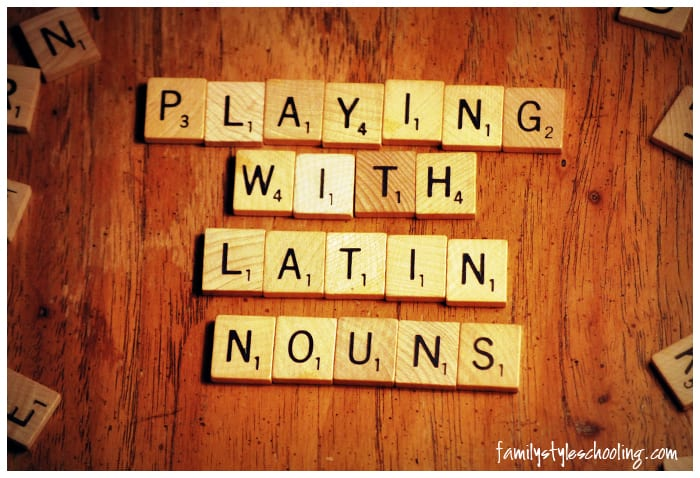 Latin in the Grammar Stage – Playing with Nouns