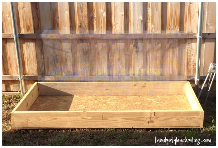 elevated planter box