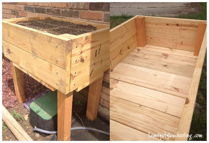 how to build an elevated garden box