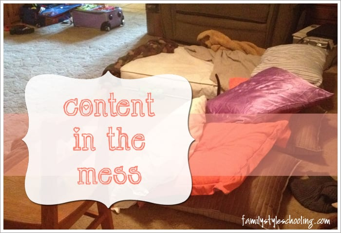 content in the mess title