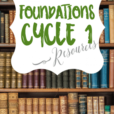 What's on my Bookshelf:  Resources for Foundations Cycle 1