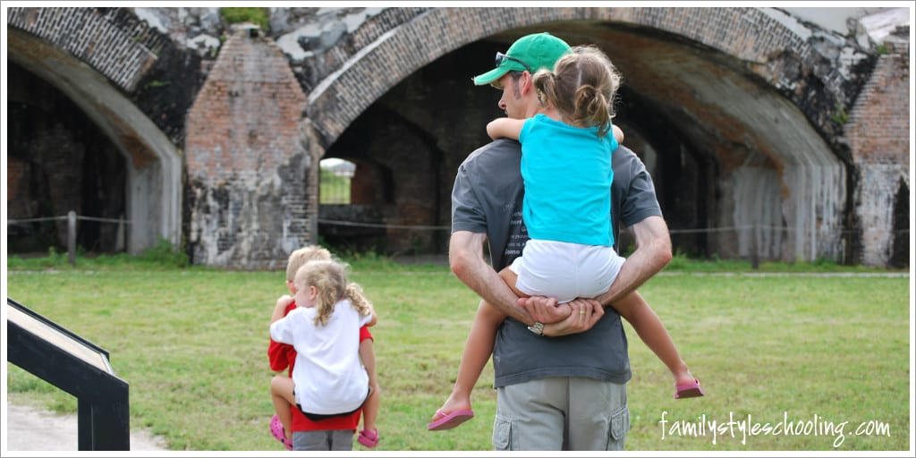Fort Pickens piggy back rides
