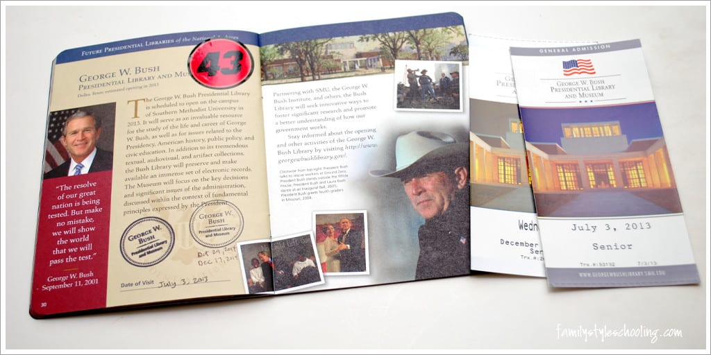 George W Bush Presidential Library Passport