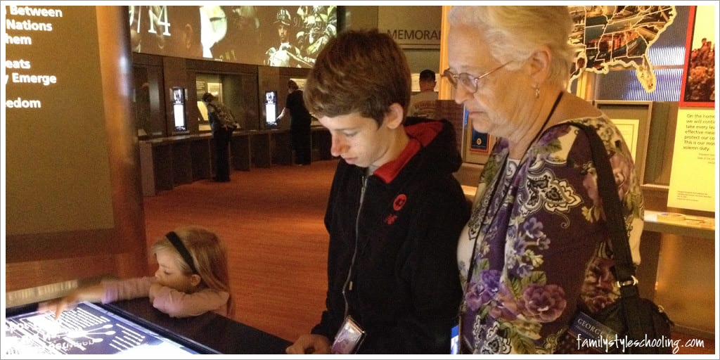 George W Bush Presidential Library interactive touchscreens