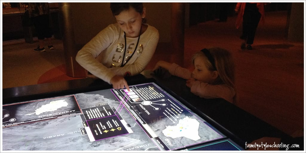 George W Bush Presidential Library interactive touchscreens informative