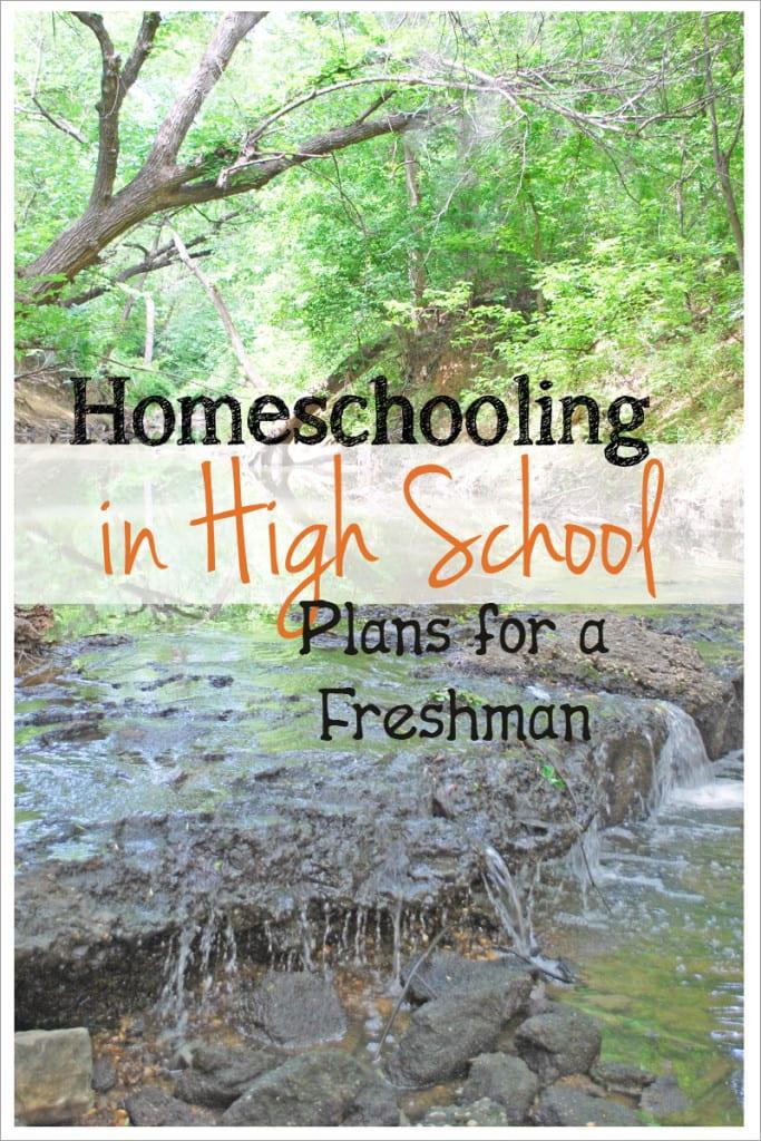 Homeschooing in High School - Plans for a freshman