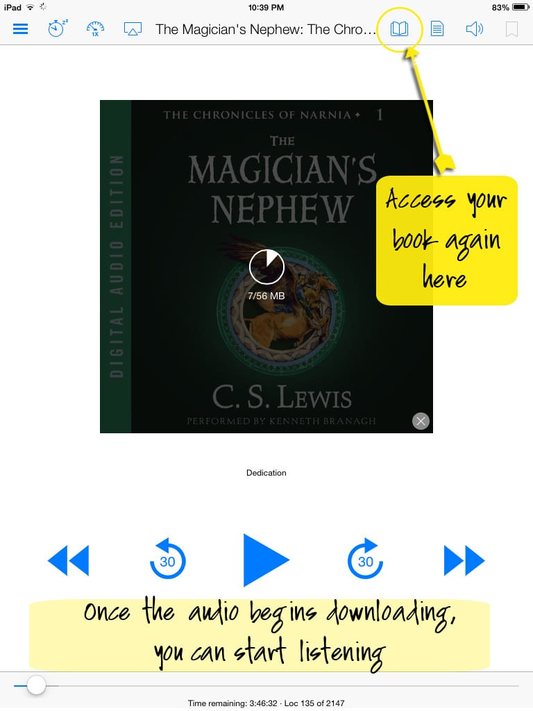 Kindle whispersync access book again