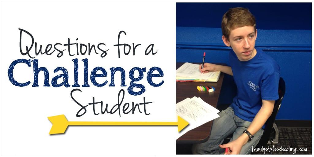 Classical Conversations Challenge Student