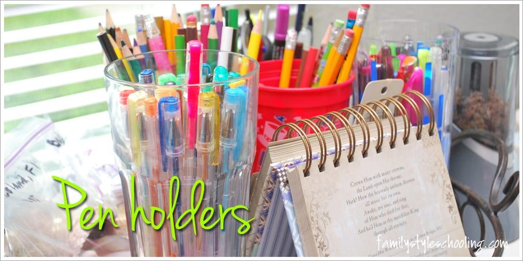 Schoolroom storage must haves pen holders