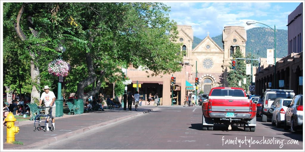 Small town feel in big city Santa Fe