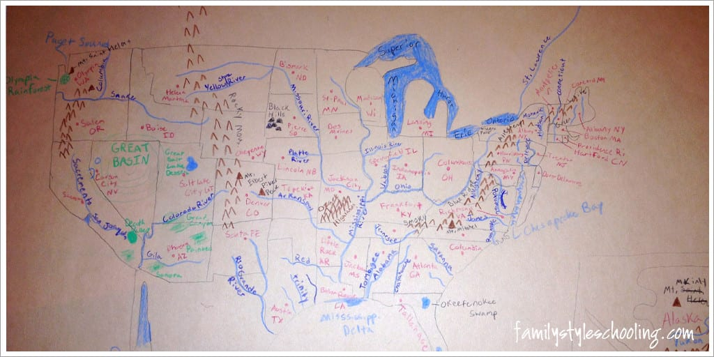 questions for a challenge student drawing maps