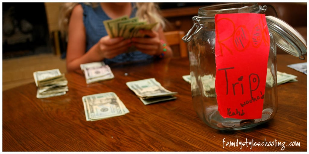 teaching kids to save for a road trip