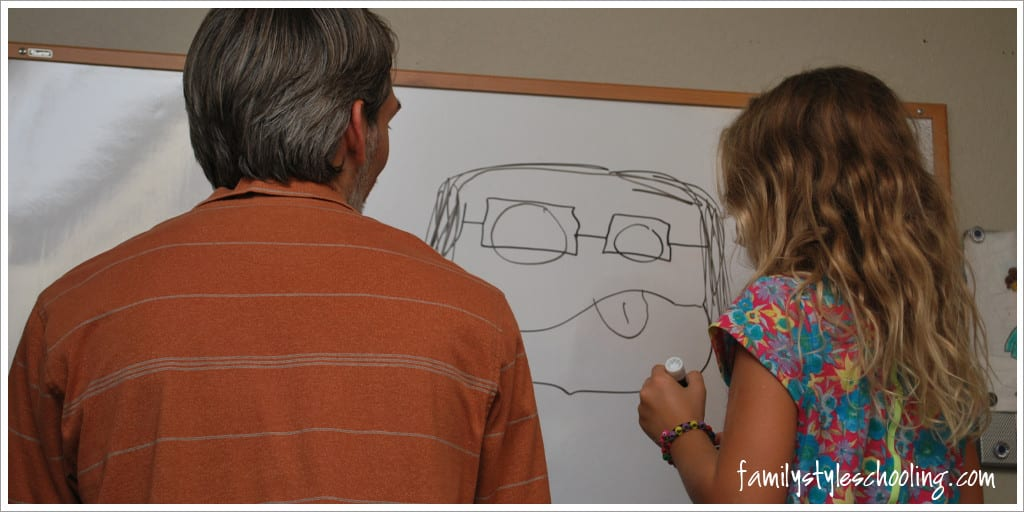 Daddy and daughter add on art