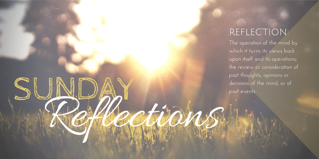 Sunday Reflections: A Week in Review