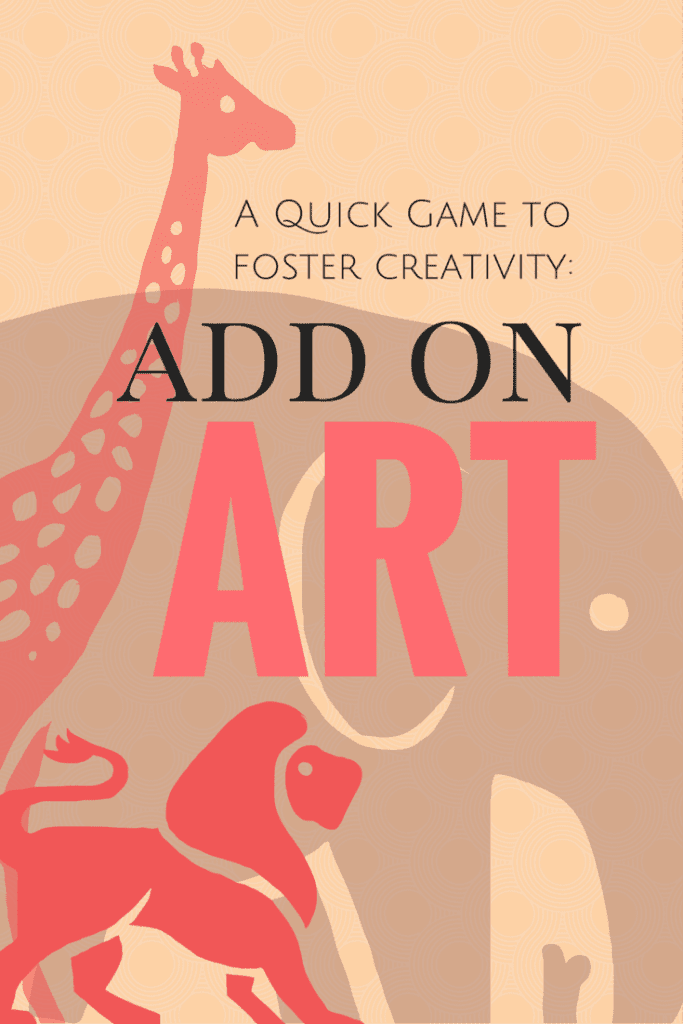 add on art game - fostering creativity