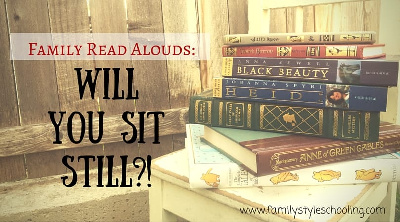 Family Read Alouds: Will you sit still?