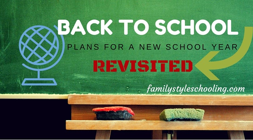 Plans for a New School Year – Revisited