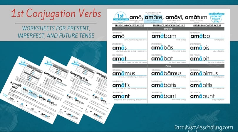 Latin Verb Conjugations Present Stem Worksheets - Family Style Schooling