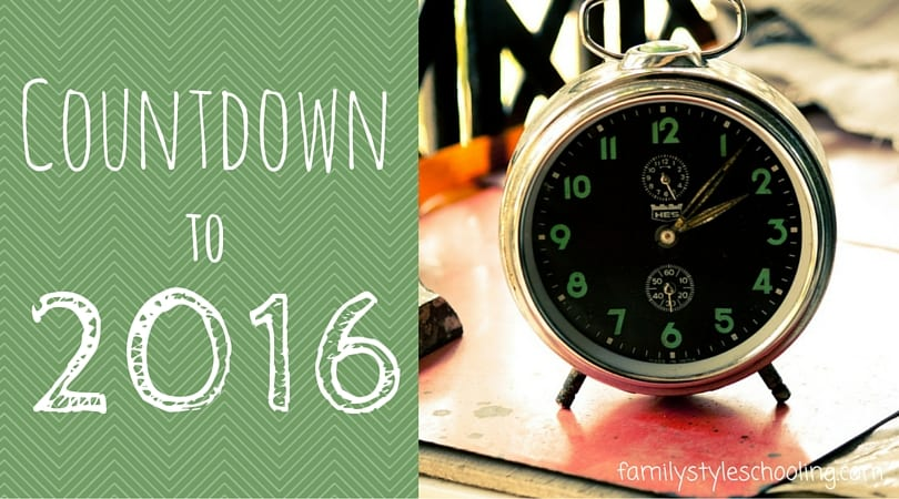 Good Eats:  Countdown to 2016