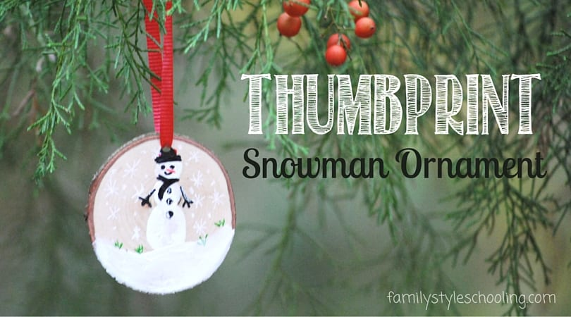 DIY Wooden Thumbprint Snowman Ornaments