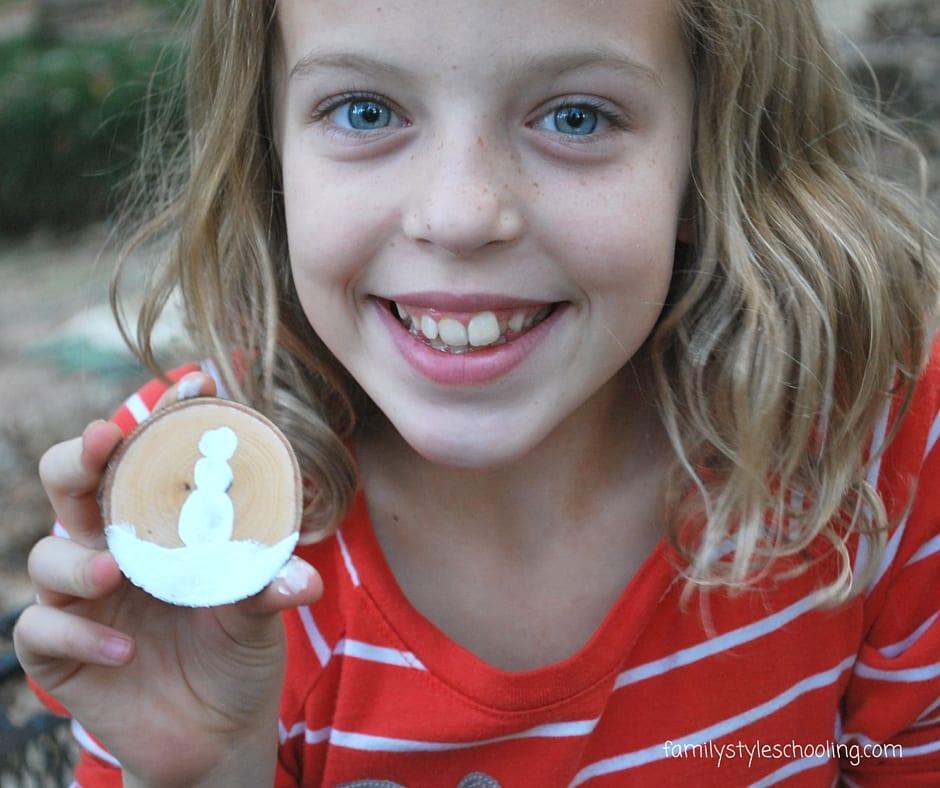 thumbprint snowman