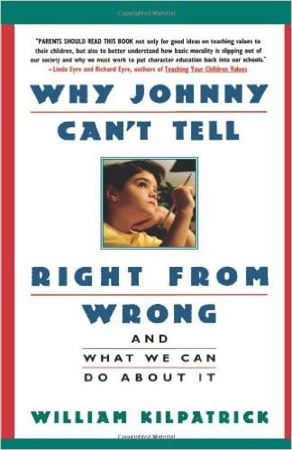 Why Johnny Can't tell Right from Wrong