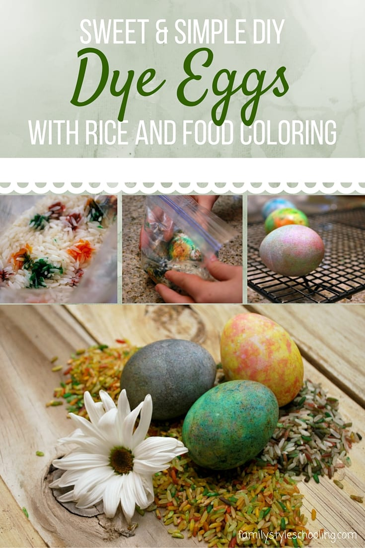 Sweet simple dye eggs with rice and food coloring family style dying easter eggs with rice and food coloring forumfinder