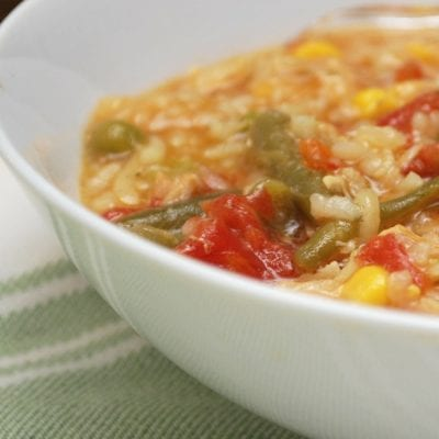 Veggie Chicken and Rice Soup