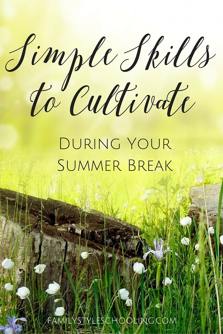 Simple Skills to Cultivate During Your Summer Break