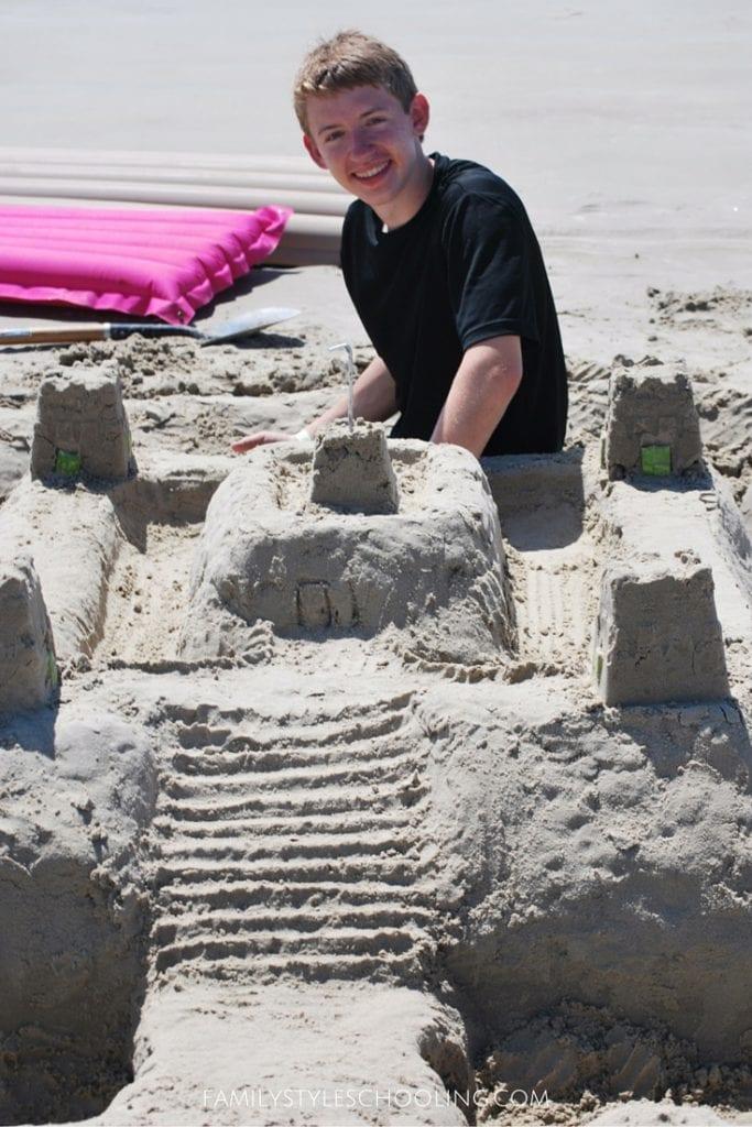 Galveston sand castle