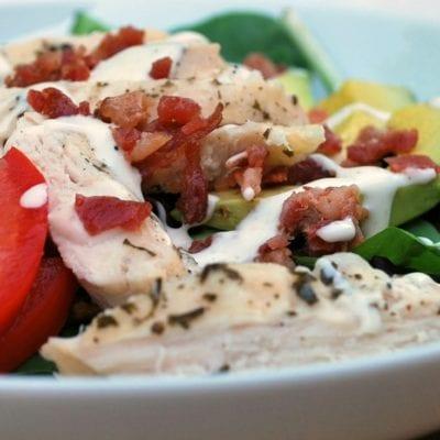 Simple Salad: Ranch Chicken with Bacon & Avocado