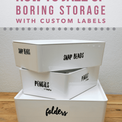 How to Jazz Up Boring Storage With Custom Labels