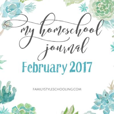 February 2017 Homeschool Mother's Journal