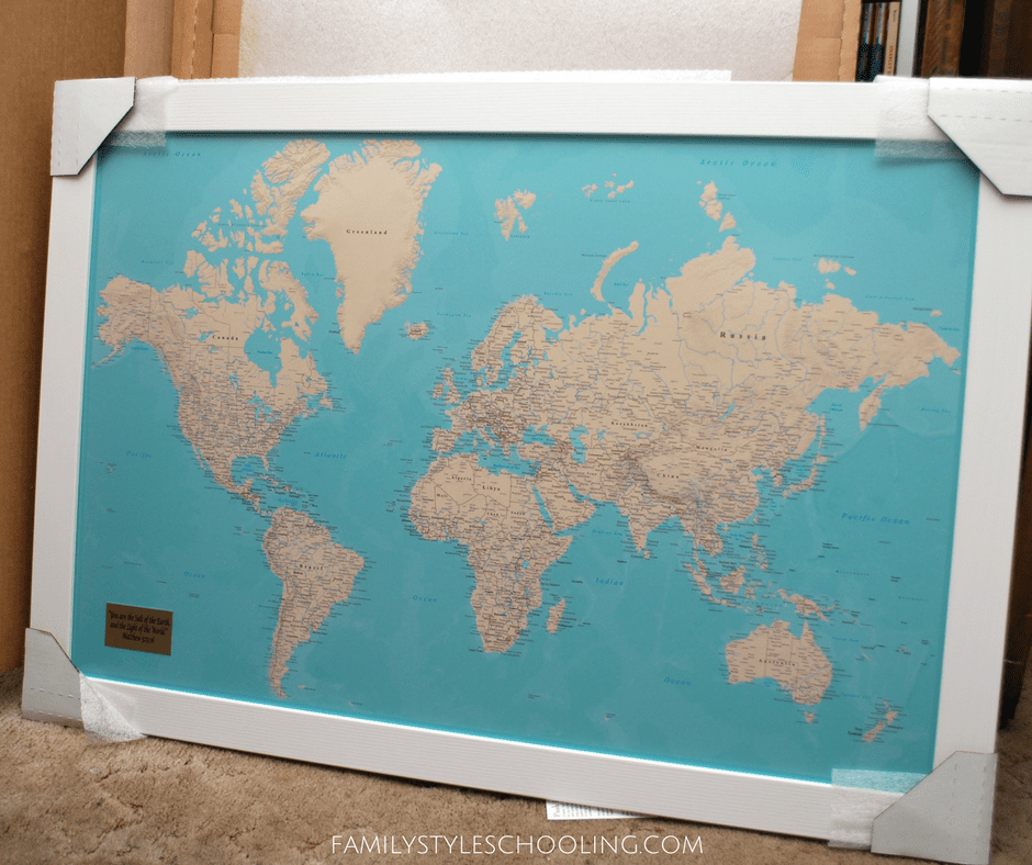 Push Pin Travel Maps Review - Family Style Schooling Blog