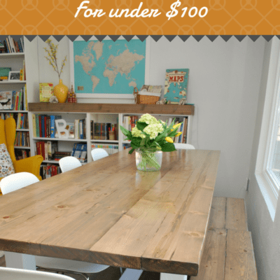 DIY Farmhouse Table for Under $100