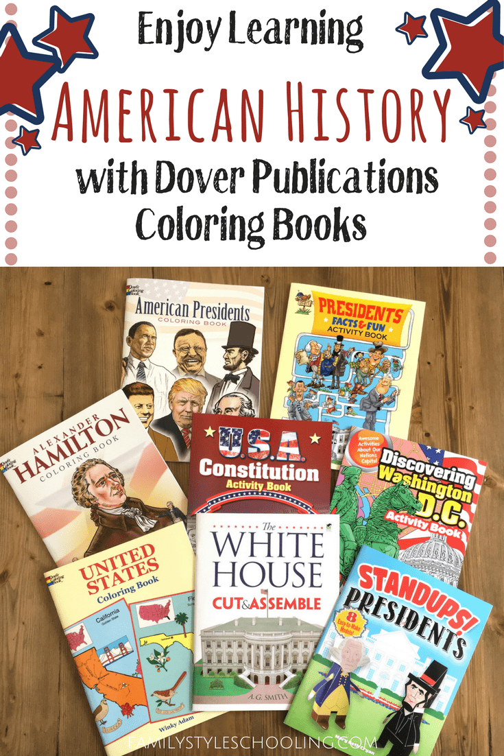 Enjoy Learning American History with Dover Publications Coloring ...