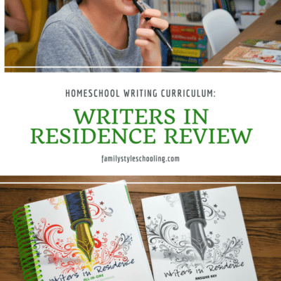 Homeschool Writing Curriculum: Writers in Residence Review
