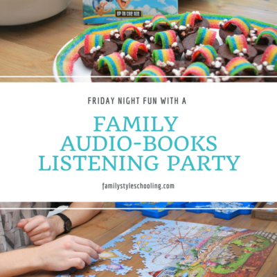 Friday Night Fun with a Family Audiobooks Listening Party