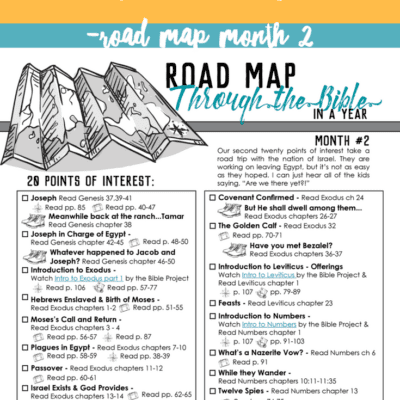 Talking Through Scripture With Kids – Road Map Month 2