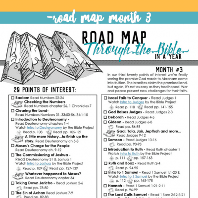 Keep Your Eyes Fixed on Jesus – Road Map Month 3