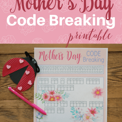 30 Ways to Enjoy 30 Minutes of Peace with a Mother's Day Code Breaker