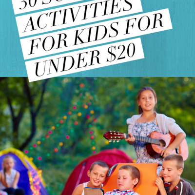 30 Summer Activities for Kids Under $20
