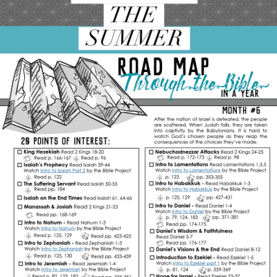 How to Keep On Reading the Bible Through the Summer – Road Map Month 6