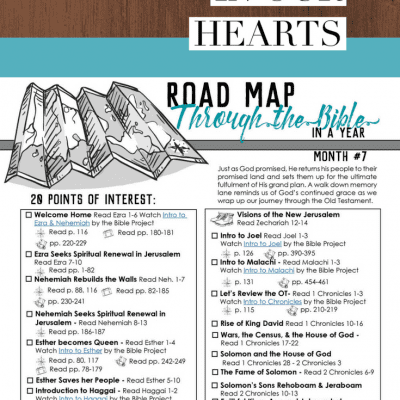 Instilling God's Word In Our Hearts – Road Map Month 7