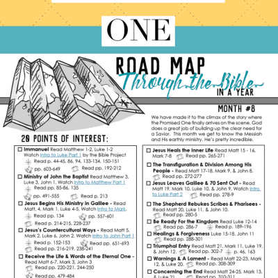 Treasuring the Promised One – Road Map Month 8