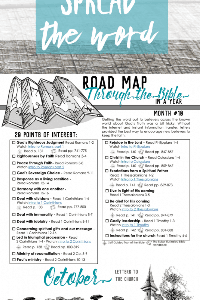 Spread the Word – Road Map Month 10