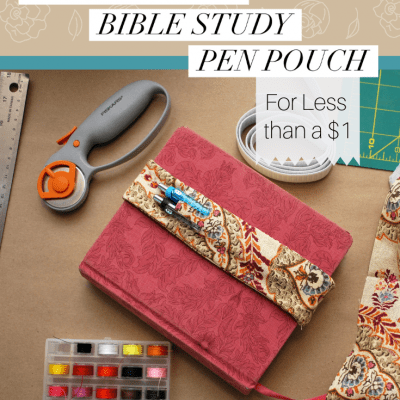 How to Sew a Simple Bible Study Pen Pouch