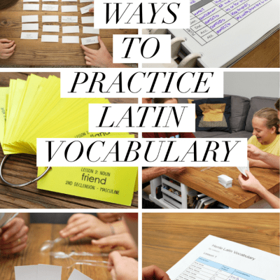10 Ways to Practice Latin Vocabulary