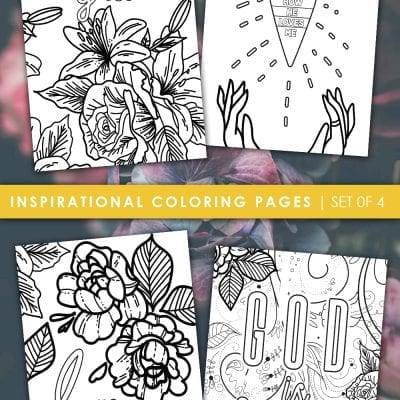 4 FREE Inspirational Coloring Sheets